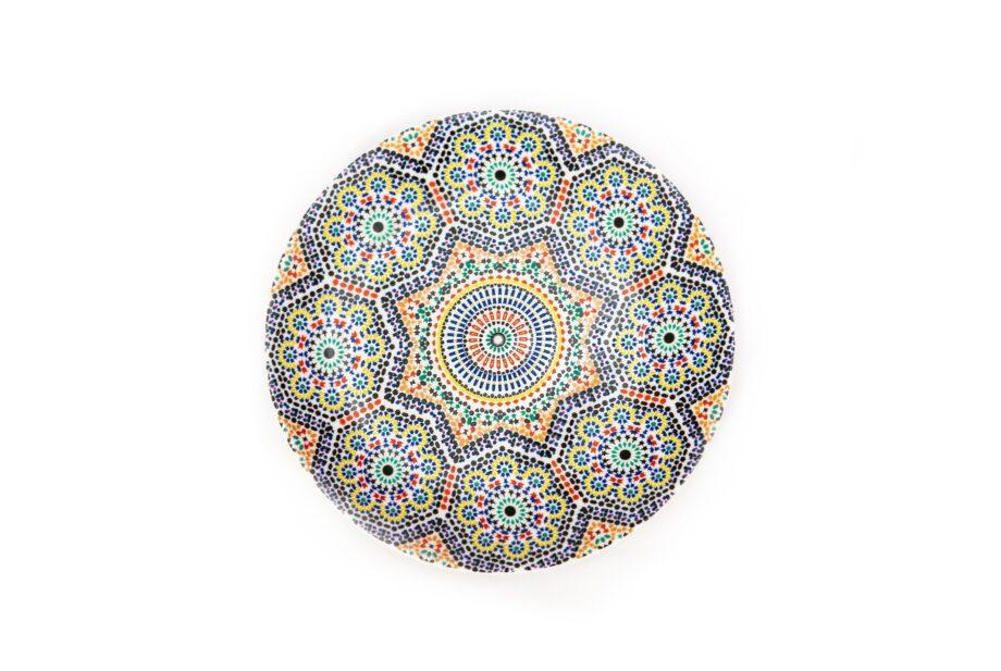 assiette en porcelaine Minyadina gamme Zellige
