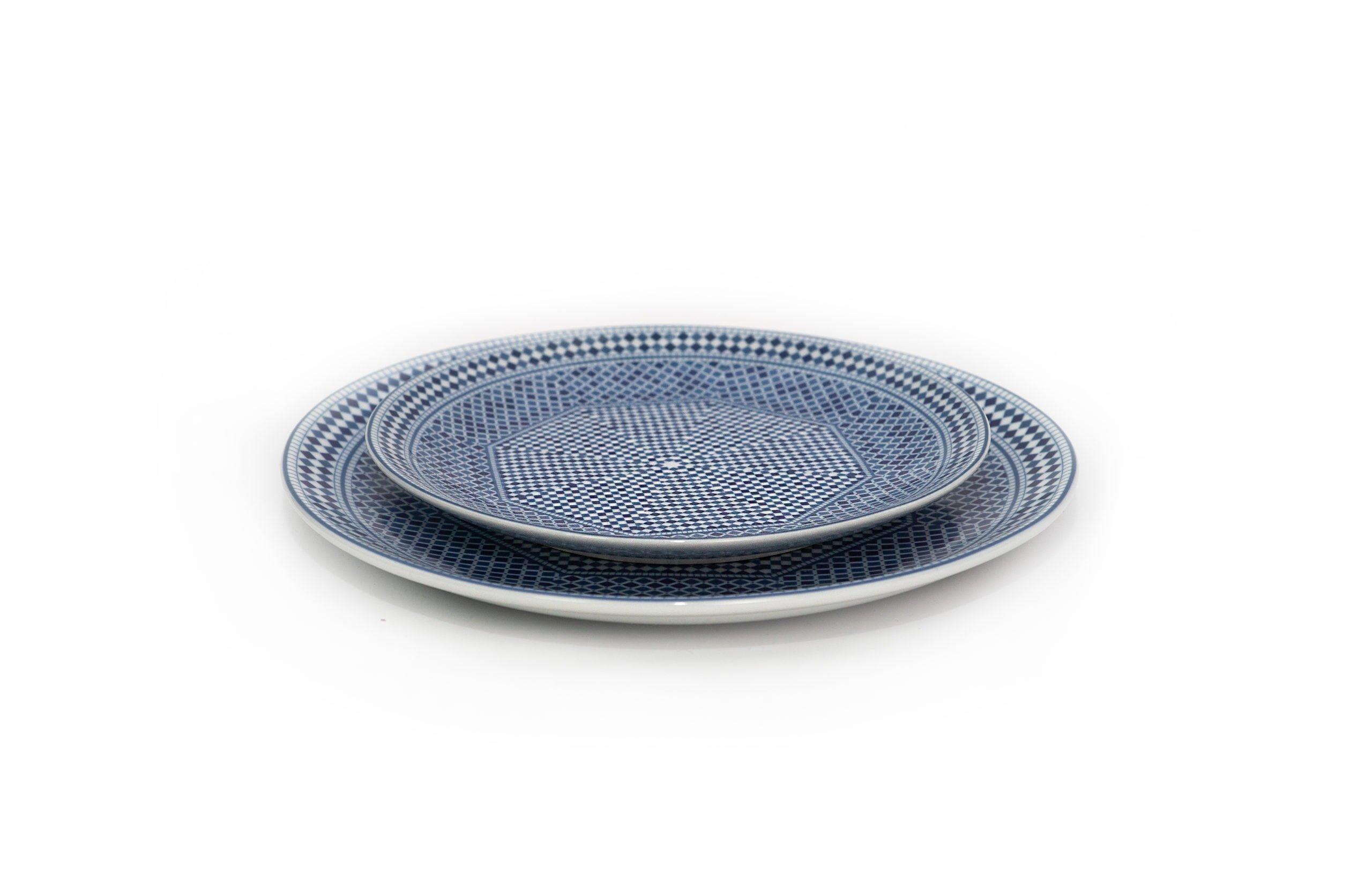 assiettes bleu de fès (20 et 25 cm)