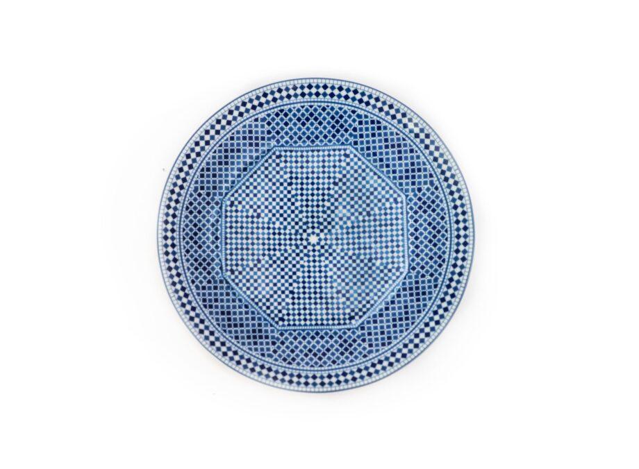 assiette en porcelaine Minyadina gamme bleu de fès