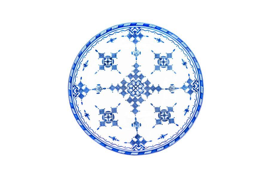 assiette en porcelaine Minyadina gamme bleu berbère